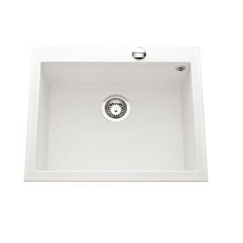 Évier granit blanc Ewi URBIA 1 bac  570x500