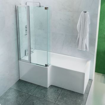 Paroi et porte de douche pour am nager la salle de bains for Vitre salle de bain baignoire