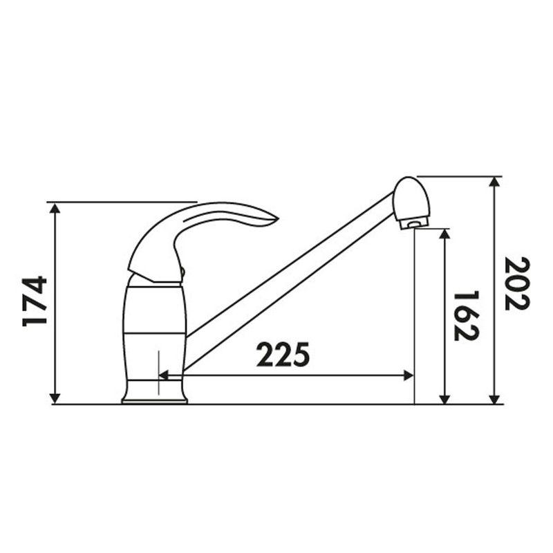 robinetterie cuisine mitigeur blanc crbmi153 cuisissimo. Black Bedroom Furniture Sets. Home Design Ideas