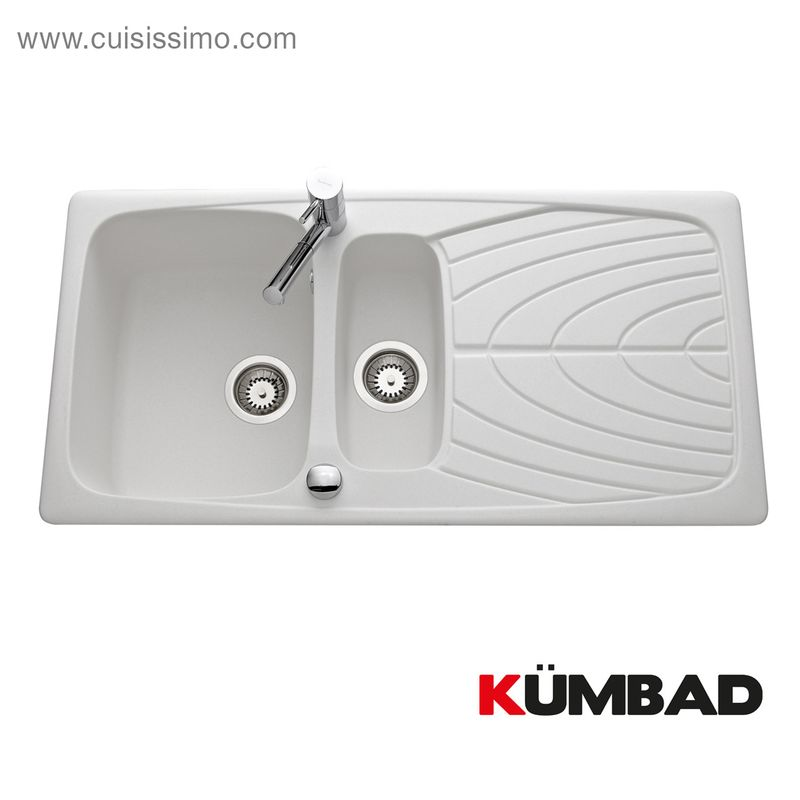 Evier inox 1 grand bac gouttoir droite luny des for Evier inox design