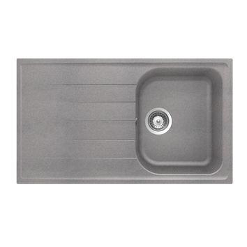 Evier schock de la gamme viola en 1 bac 1 gouttoir for Evier en granit noir entretien