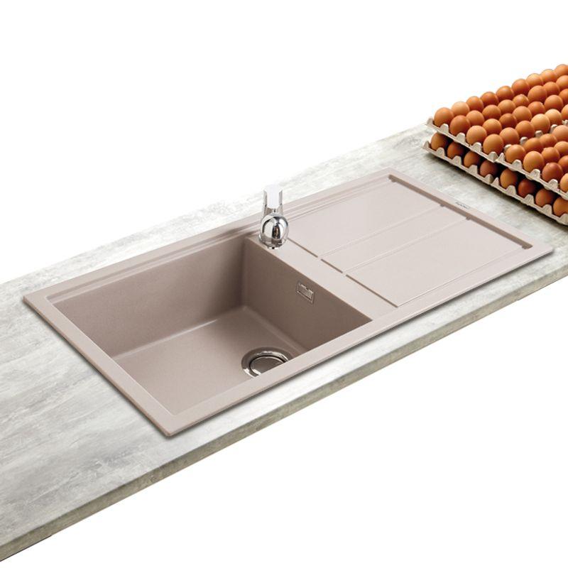 evier encastrer best taupe 1 grand bac 1 gouttoir installez un vier elleci dans votre cuisine. Black Bedroom Furniture Sets. Home Design Ideas