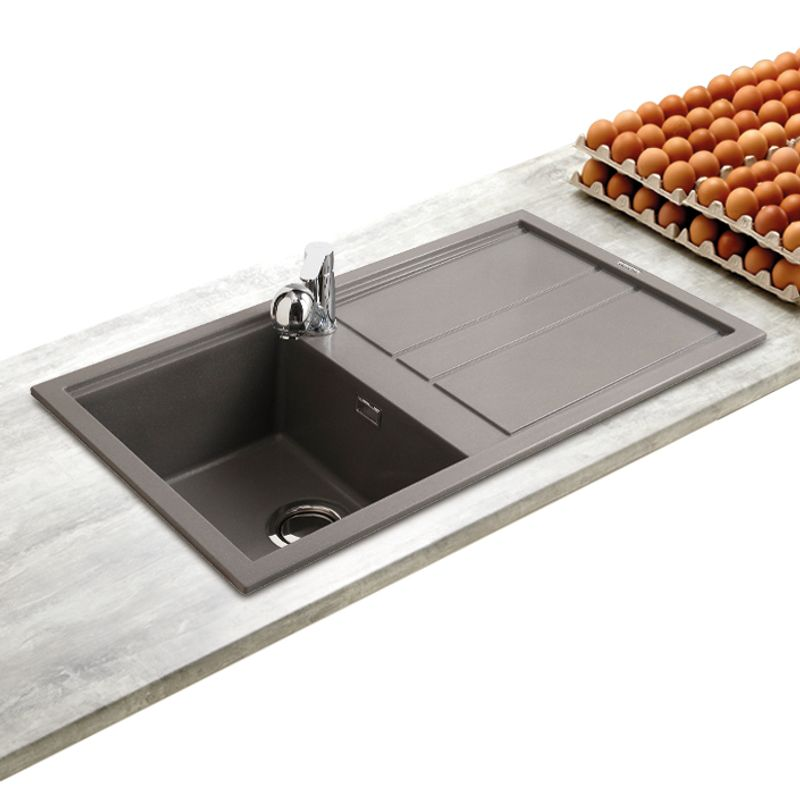 evier encastrer best gris 1 bac 1 gouttoir installez un vier elleci dans votre cuisine. Black Bedroom Furniture Sets. Home Design Ideas