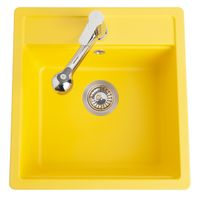 Évier granit jaune Schock NEMO 1 bac 510x490
