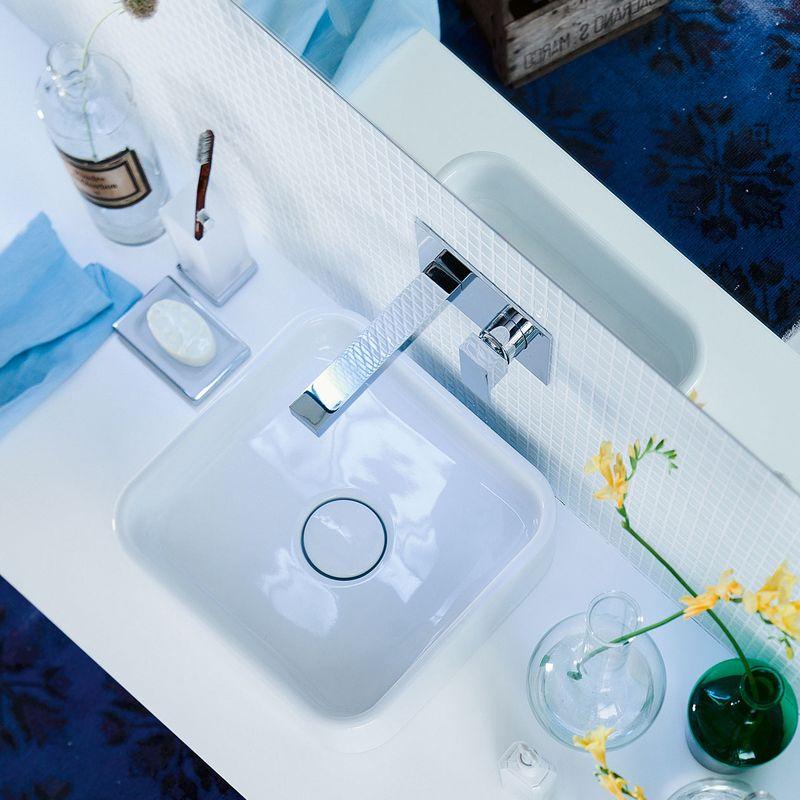 Miitigeur bas brembo chromé pour une vasque de salle de bains