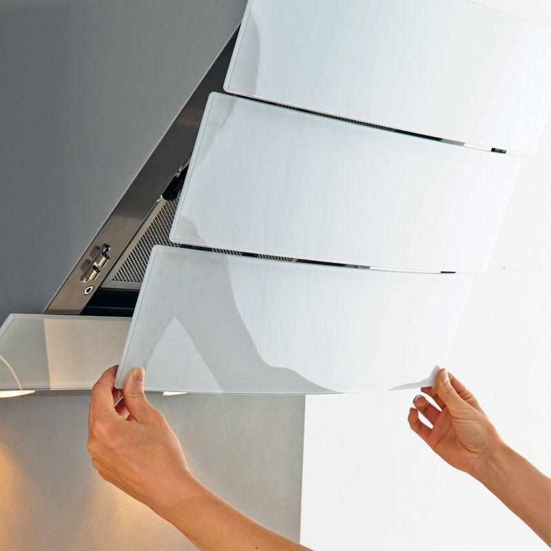 hotte d corative murale blanche city silverline. Black Bedroom Furniture Sets. Home Design Ideas