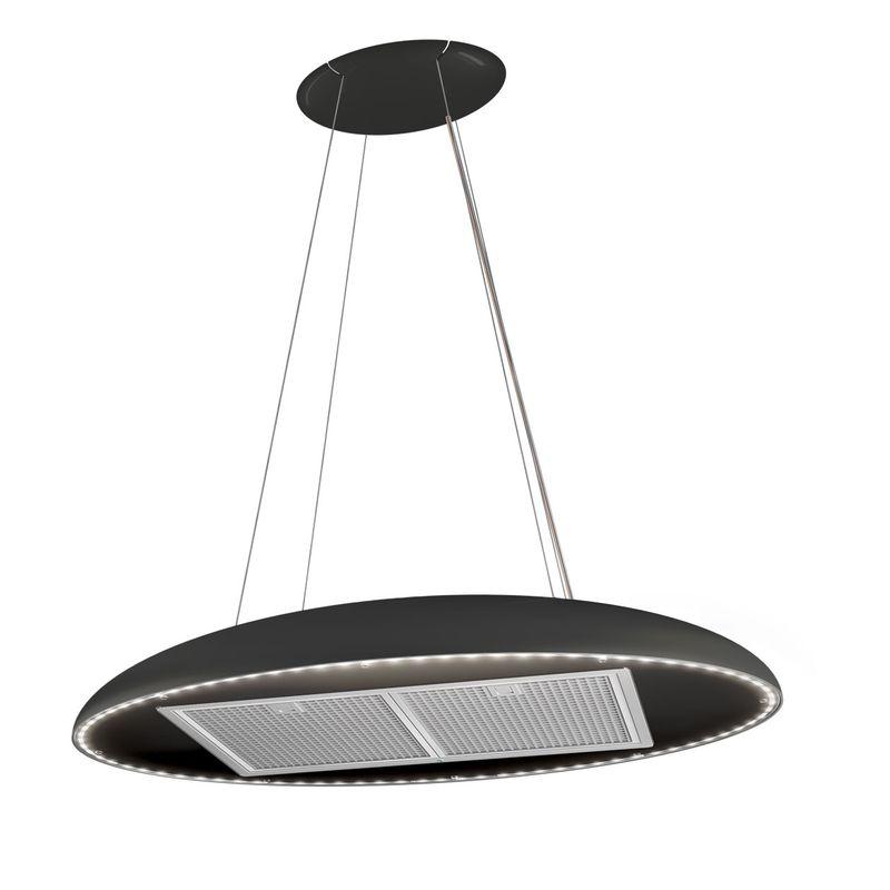 airforce eclipse noir hotte suspendue pour la cuisine. Black Bedroom Furniture Sets. Home Design Ideas