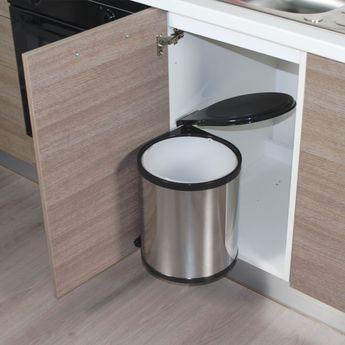 Poubelle de cuisine ronde encastrable ALYSTA - 14 litres