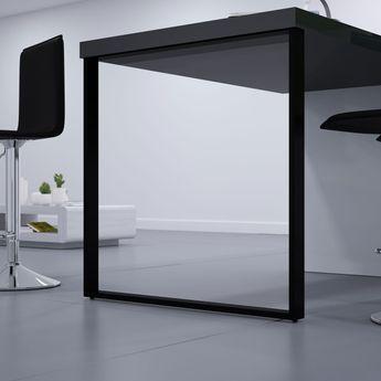 Pied de table rectangulaire TELESCOP Noir H 900 réglable