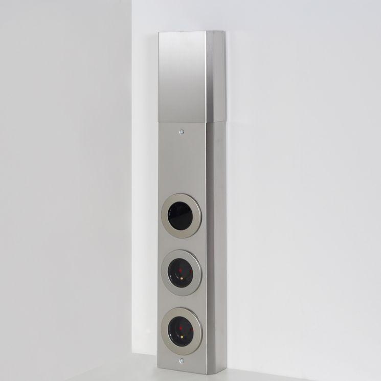 Prise de cuisine - Bloc HOLT de 2 prises avec interrupteur en Inox brossé