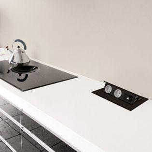 Soubassement prise cuisine badsteckdose 2 fois prise salle de bains cuisine Prise de courant