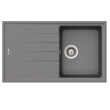 Évier granit gris Schock ELEMENT 1 bac 1 égouttoir