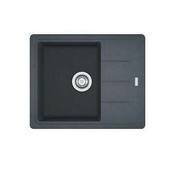 Evier granit Franke BASIS noir graphite 1 bac 1 petit égouttoir