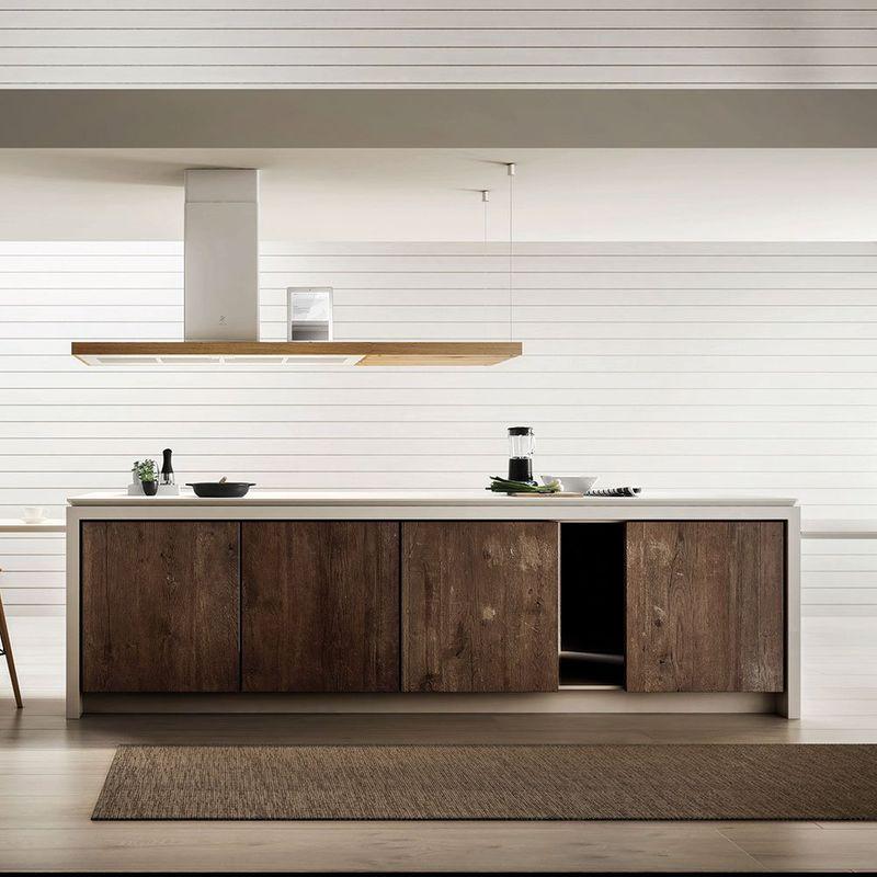 elica hotte de cuisine ilot bio island en bois et m tal blanc livraison domicile prf0120967. Black Bedroom Furniture Sets. Home Design Ideas