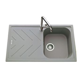 Évier granit gris Luisina ARPEGE 1 bac 1 égouttoir