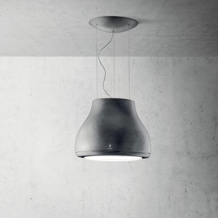Hotte cuisine Elica suspendue gris métal SHINING  50 cm