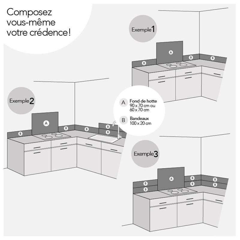 cr dence d cor e en aluminium carreaux de ciment cambo gris fond de hotte pas cher. Black Bedroom Furniture Sets. Home Design Ideas