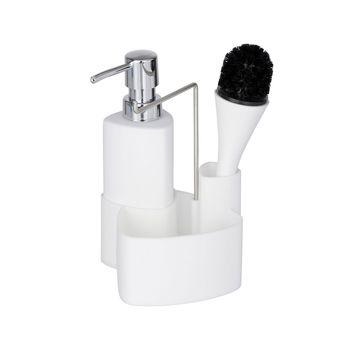 Distributeur de savon avec station WENKO EMPIRE blanc