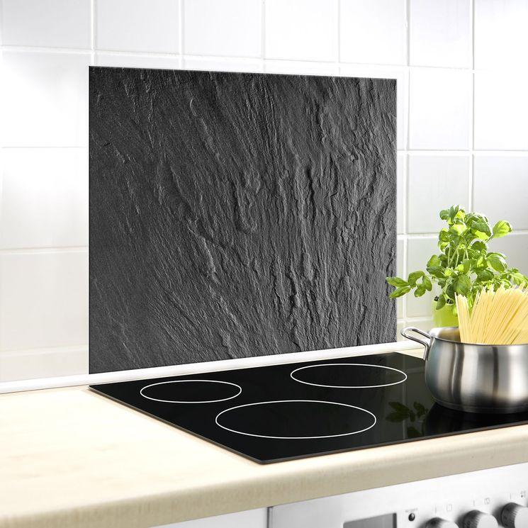 Crédence fond de hotte verre - WENKO ARDOISE - 60x50 cm
