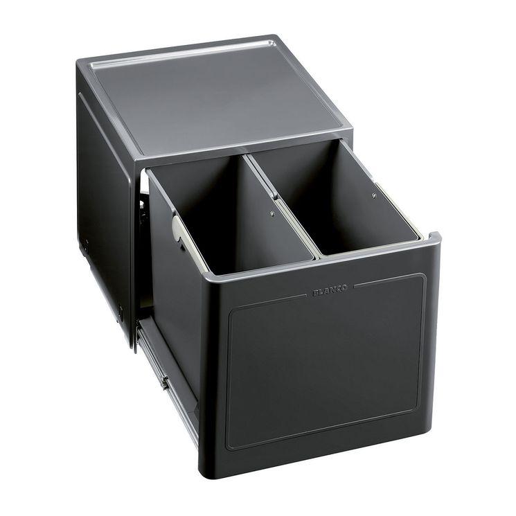 Poubelle de cuisine encastrable BLANCO BOTTON Pro 45/2 Manuell - 2x13 litres