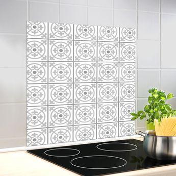 Crédence fond de hotte verre - Carreaux de Ciment Wenko TALI - 60x70 cm