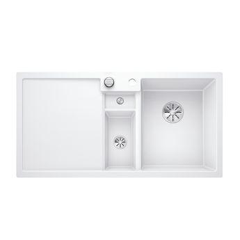 Evier granit blanc BLANCO COLLECTIS 6 S 1 bac 1/2 - 1 égouttoir à gauche