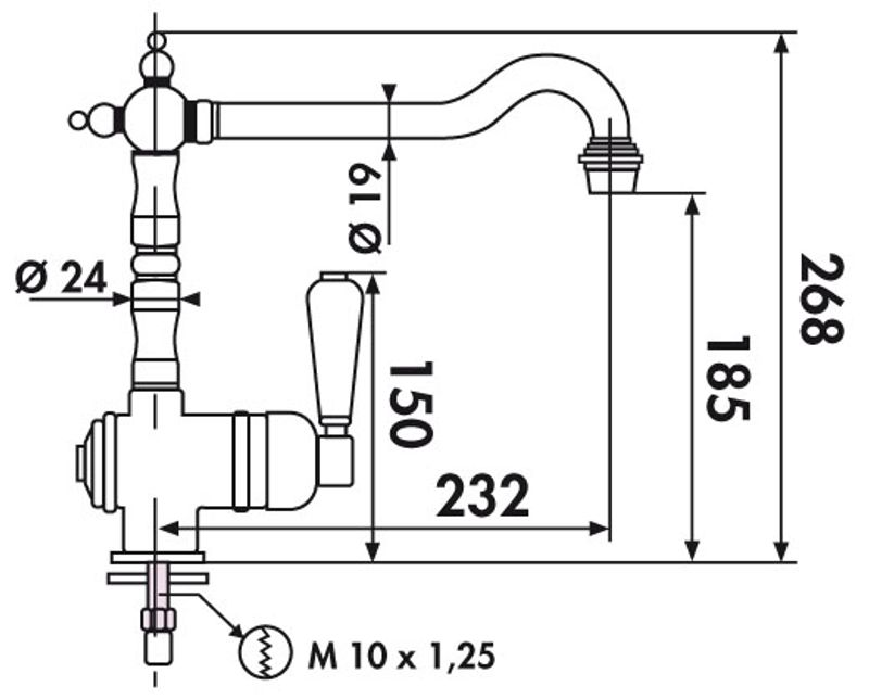 robinetterie cuisine mitigeur r233tro vieux bronze crbme005