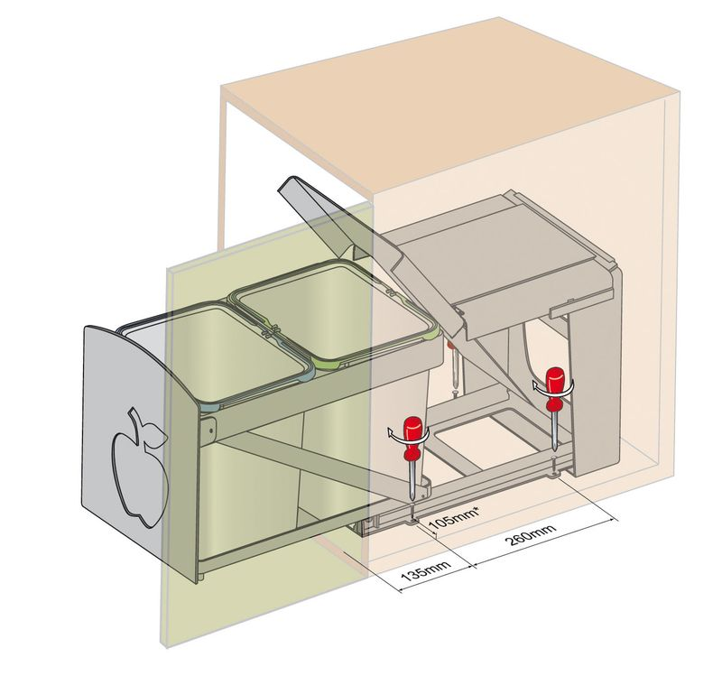 Poubelle automatique 50 litres acheter avec dum metonneau - Poubelle de cuisine automatique 30 litres ...