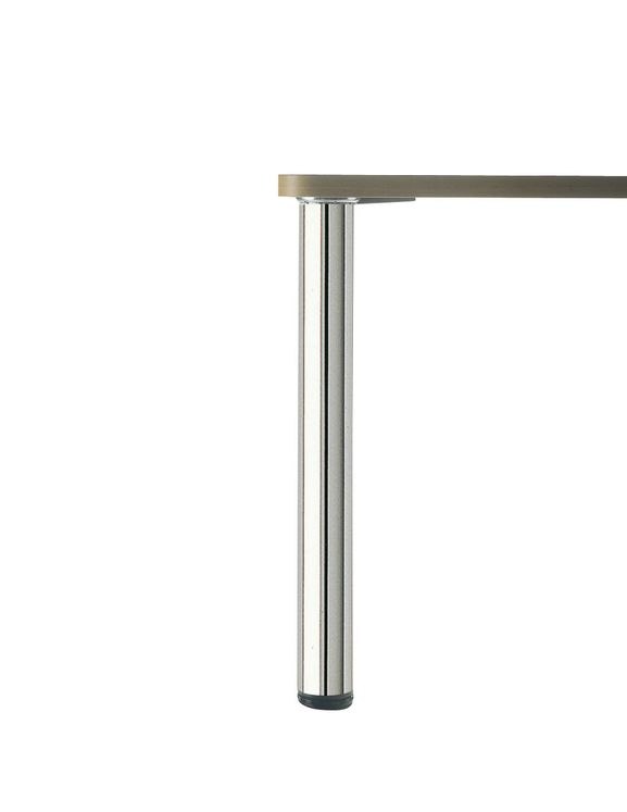 PIED DE TABLE ROND Inox poli H 700 x  80