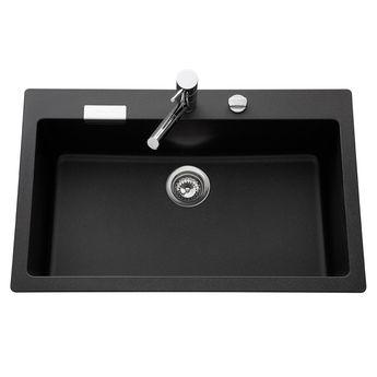 Évier granit noir Schock LOKTI 1 bac 790x500