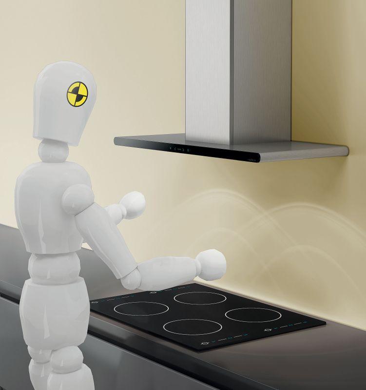 Hotte cuisine elica murale galaxy noir inox 80 cm cuisissimo - Hotte de cuisine 80 cm ...