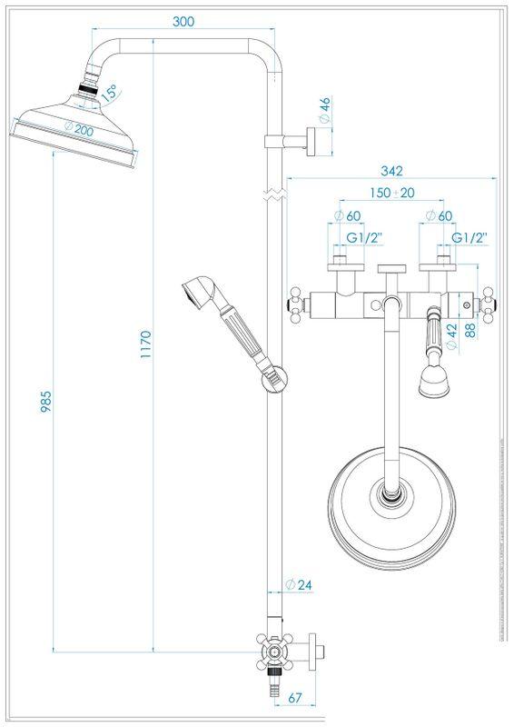 Vente colonne de douche mitigeur thermostatique chrom e robinetterie iris p - Colonne de douche belgique ...