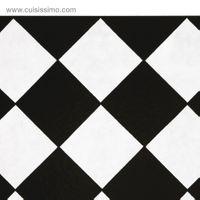 Évier céramique à poser KATE 1 bac blanc et noir  (595 x 470 x220 mm)
